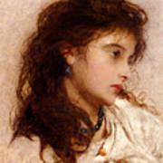 Gypsy Girl Art Print by George Elgar Hicks