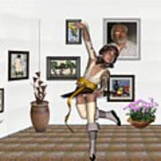 Digital Exhibartition _  Dancing Girl  Art Print