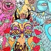 Gypsy Owl Art Print