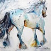 Gypsy Vanner Motion Paint Sketch Art Print