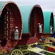 Gypsy Wagons Art Print