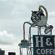 H and C Coffee Sign in Roanoke Virginia II Art Print