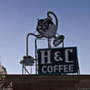 H And C Coffee Sign Roanoke Virginia Art Print