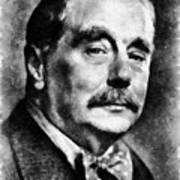 H. G. Wells Author Art Print