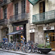 Barcelona Shops Art Print