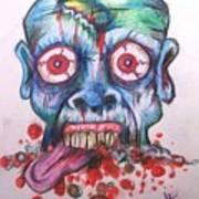 Hacked Dead Alive Art Print