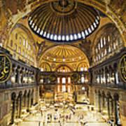Hagia Sophia Interior Art Print by Artur Bogacki
