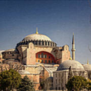 Hagia Sophia Art Print by Joan Carroll