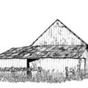Haines Barn Print by Virginia McLaren