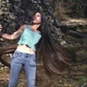 Hair - Long Beautiful Hair-pop Song Art Art Print