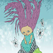 Hair Is A Tree Art Print