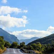 Hairpin Curve On Greek Mountain Road Art Print