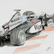 Hakkinen Victory In Luxembourg Gp 1998 Art Print