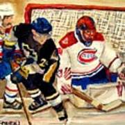 Halak Catches The Puck Stanley Cup Playoffs 2010 Art Print