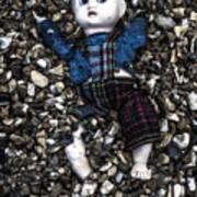 Half Buried Doll Art Print