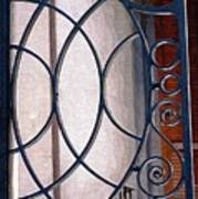 Half Circles On Iron Gate Art Print