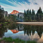 Half Dome And  Merced Art Print by Mimi Ditchie Photography