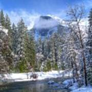 Half Dome And The Merced River Art Print