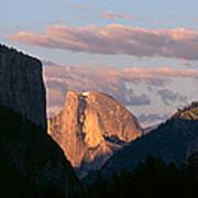 Half Dome Mountain At Sunset, Yosemite Art Print