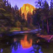 Half Dome Sunset Art Print