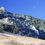 Half Moon Over The Flatirons Art Print