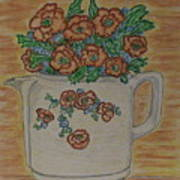 Hall China Orange Poppy And Poppies Art Print