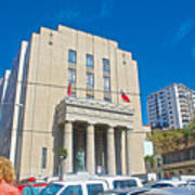Hall Of Justice In Valparaiso-chile  Art Print