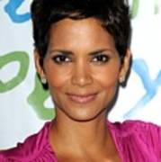 Halle Berry At Arrivals For Silver Rose Art Print by Everett