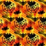 Halloween Abstract - Happy Halloween Art Print