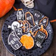 Halloween Cookies Art Print