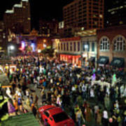 Halloween Draws Tens Of Thousands To Celebrate On 6th Street Art Print