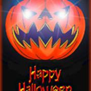 Halloween Greeting Card Art Print