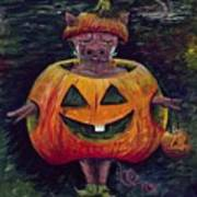 Halloween Hog Art Print