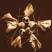 Halloween Horror Dolls On Dark Background Art Print