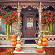 Halloween In A Small Town Art Print