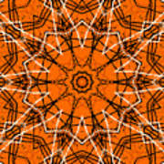 Halloween Kaleidoscope 12 Art Print