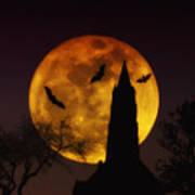 Halloween Moon Art Print by Bill Cannon