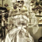 Halloween Mrs Bones The Bride Vertical Art Print
