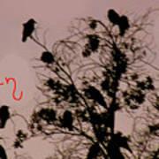 Halloween Ravens Art Print