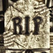 Halloween Rip Rest In Peace Headstone Art Print