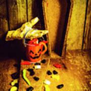 Halloween Trick Of Treats Background Art Print