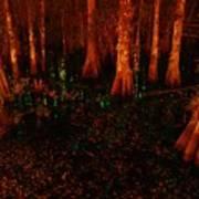 Halloween Woods Art Print