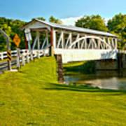 Halls Mill Covered Bridge Landscape Art Print