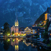 Hallstat Village Art Print