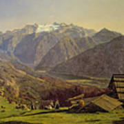Hallstatter See Art Print by Ferdinand Georg Waldmuller