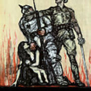 Halt The Hun - WW1 Art Print
