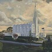 Hamilton New Zealand Temple Art Print by Jeff Brimley