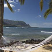 hammock in Paradise Art Print