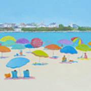 Hampton Beach And Boars Head Art Print