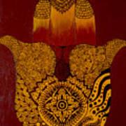 Hamsa- Brown Art Print